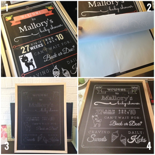DIY Chalkboard Sign | Life Is Sweet As A Peach