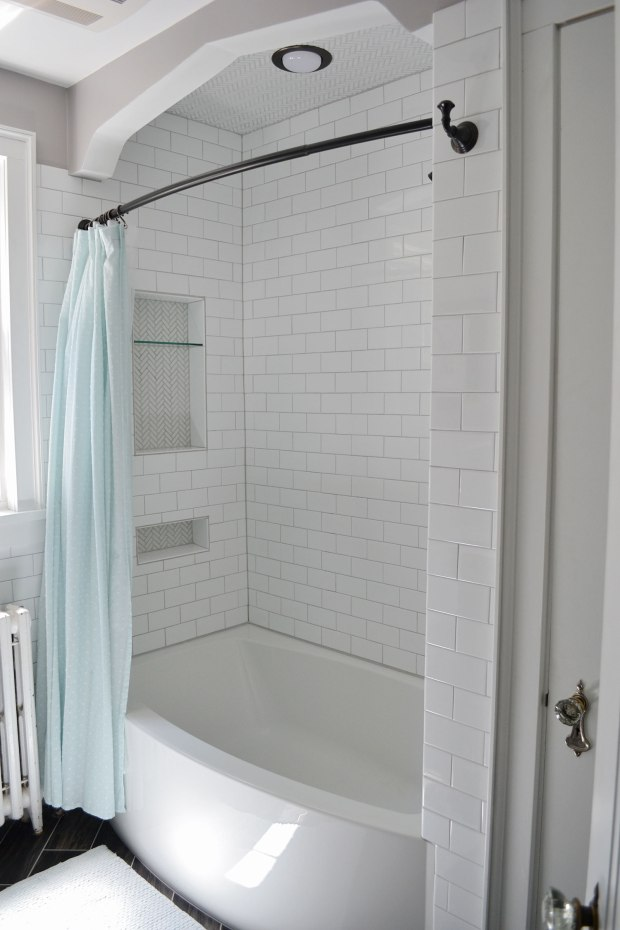 White Subway Tile Shower | Life Is Sweet As A Peach