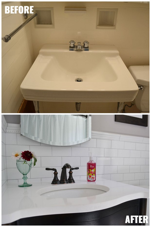 1930s Bathroom Makeover Before & After | Life Is Sweet As A Peach