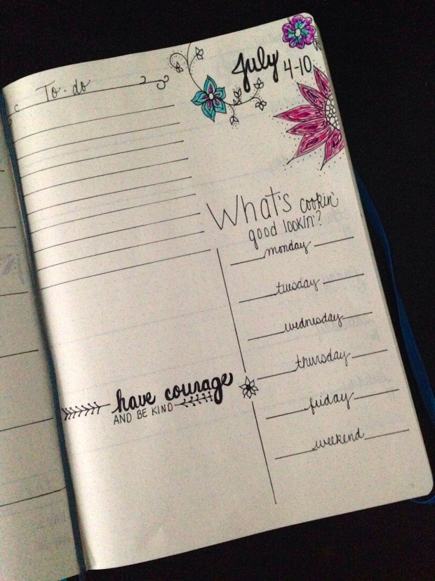 Journal/Planner Weekly To Do Layout | Life Is Sweet As A Peach