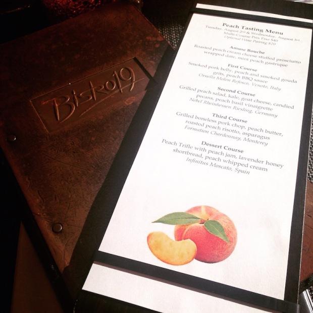 Bistro19 Peach Tasting | Life Is Sweet As A Peach
