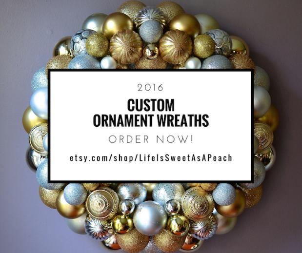 Custom Ornament Wreaths   Life Is Sweet As A Peach