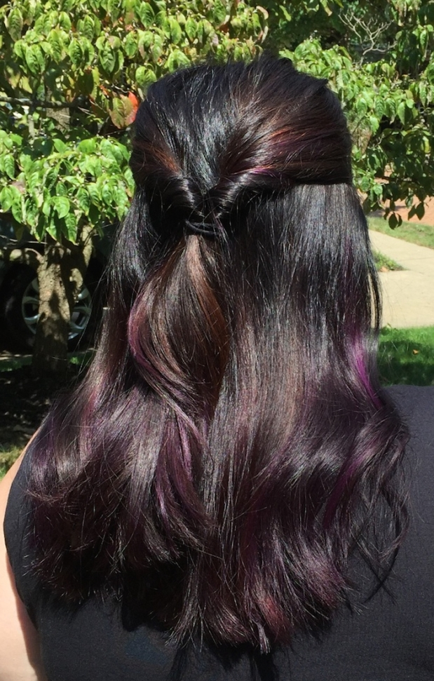 Brunette Purple Highlights | Life Is Sweet As A Peach