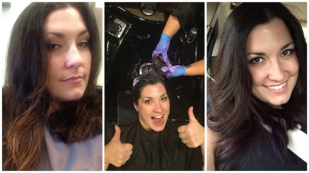 Placing Purple Highlights in Dark Hair | Life Is Sweet As A Peach
