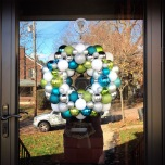 Blue, Green, Silver, and White Ornament Wreath | Life Is Sweet As A Peach