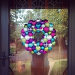 Purple, Blue, Green, and Pink Ornament Wreath | Life Is Sweet As A Peach