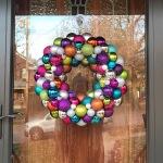 Rainbow Ornament Wreath   Life Is Sweet As A Peach