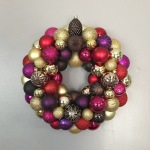 Red, Gold, Purple, Pink, and Brown Ornament Wreath | Life Is Sweet As A Peach